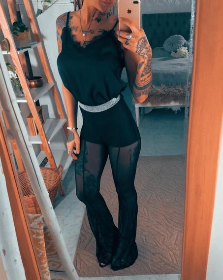 Pantalon Short De Fiesta Trasnparente Dama Mujer Art 6997