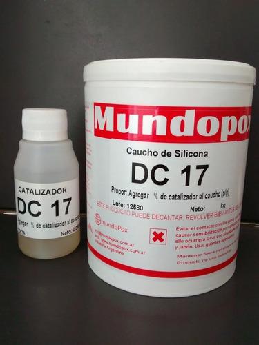 Caucho De Silicona Mundopox Dc-17 Uso General X 1 Kg.