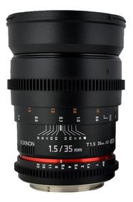 Lente Rokinon Cine 35mm T1.5 As Umc | Para Canon C/ Nfe