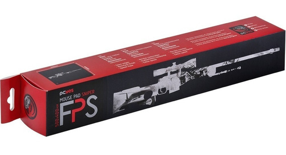 Mousepad Gamer Pcyes Fps Sniper Speed 500x400mm Fx50x40