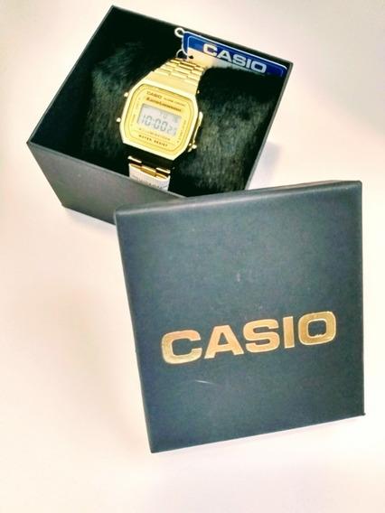 Relógio Casio Vintage Unissex Dourado Digital 1a. Linha