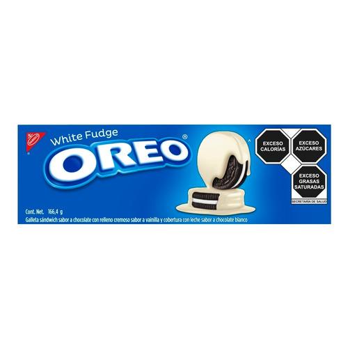 Imagen 1 de 1 de Galleta OREO White Fudge de chocolate y vainilla 166.4g