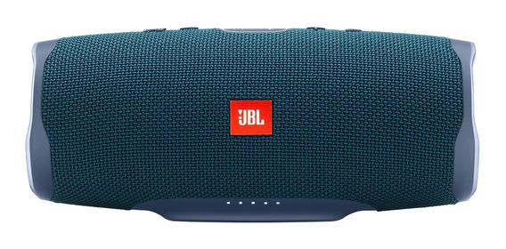 Caixa Som Portátil Bluetooth Jbl Charge 4 Prova De Água Azul