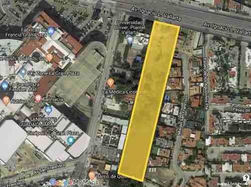 Terreno 12,500 M2 Gdl Avenida Vallarta, Muy Cerca De La Gran Plaza