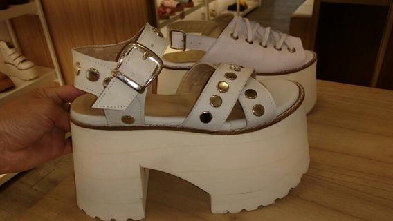 Sandalias Plataformas Eva Zapatos Mujer Cuero Legitimo
