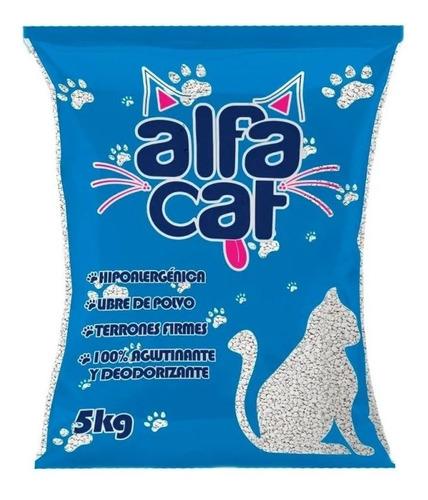 Arena Para Gato Alfa Cat 5pzs De 5kg