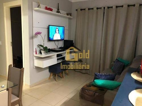 Apartamento Com 2 Dormitórios Para Alugar, 42 M² Por R$ 1.300/mês - Res. Das Americas - Ribeirão Preto/sp - Ap2245