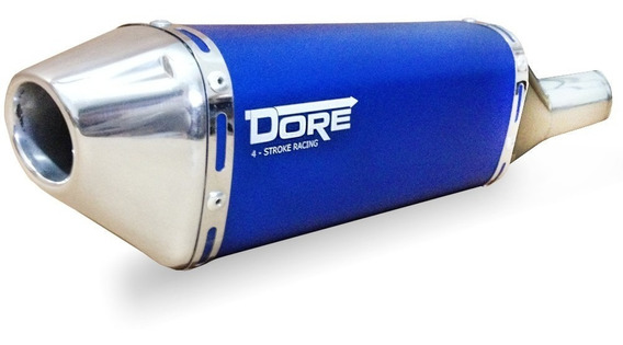 Escape Ponteira Aluminio Dore + Curva Inox Twister - Azul