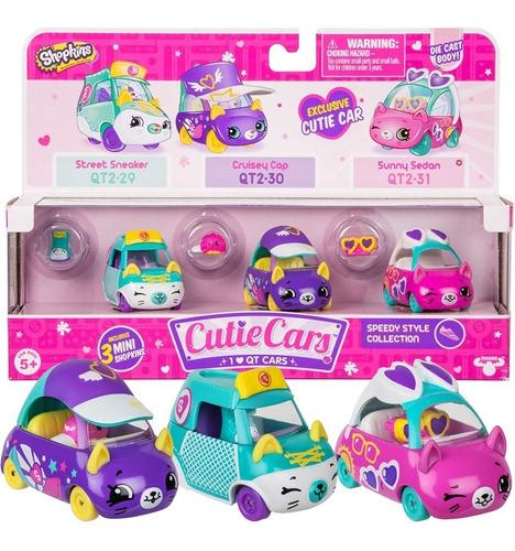 Cutie Cars Shopkins De Metal + 1 Figura Auto Original