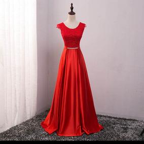 c38eacba4f Vestido Madrinha Vermelho Aluguel - Vestidos Longos Femininas no ...