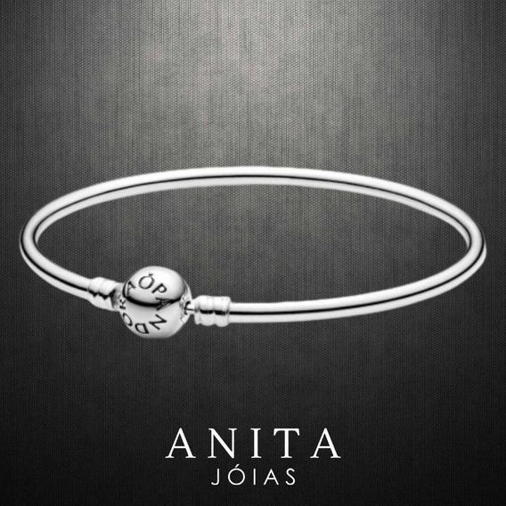 Bracelete Pulseira Rígida Prata Legítima 925 P/ Charms Berloques Vivara E Pandora Frete Grátis Promoção