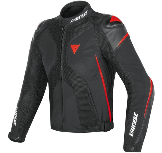Chamarra Moto Piel Dainese Super Rider D- Dry Rojo