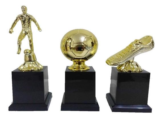 Troféu Melhor Jogador Bola De Ouro + Chuteira + Jogador