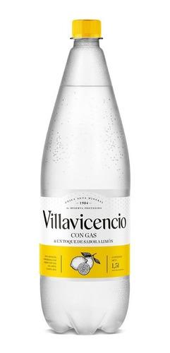 Agua Villavicencio Gasificada Saborizada Con Limon X 1,5lt