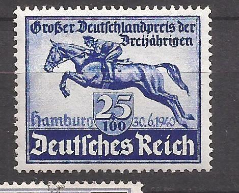 2° Guerra Alemania 1940 Sello Jockey Y Caballo Mint 17 U$d De Catalogo