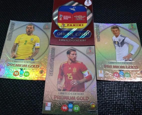 4 Cards Limited Edition Premium Gold Da Copa 2018
