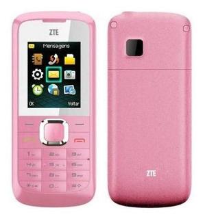Celular Barrinha Zte R222 Rosa Gsm Tela 1,8 Radio Fm Dual