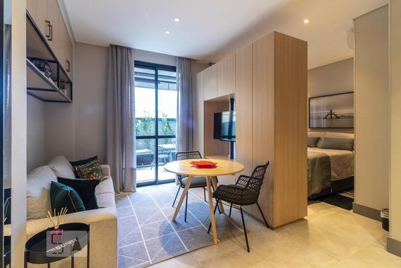 Studio Térreo Mobiliado Com 1 Dormitório E 1 Garagem - Id: 892987323 - 287323