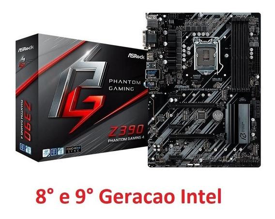 Placa-mãe Asrock Z390 Phantom Gaming 4 Lga1151 8 E 9°geração