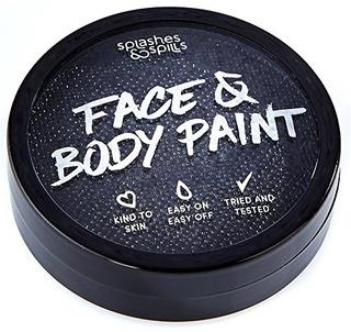 Pintura Corporal Y Facial Activada Con Agua - Negro, Tina De