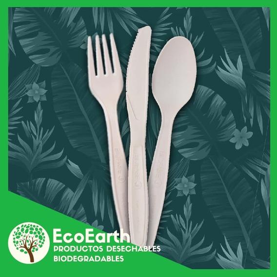 10 Sets De Cubiertos Biodegradables