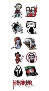 Plancha De Stickers De Peliculas Terror Freddy Scream Sadako