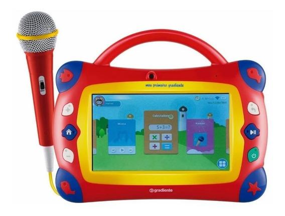 Tablet E Karaokê Gradiente Meu Primeiro 16gb Vermelho Gtb106