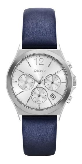 Reloj Dkny Leather Blue Parsons