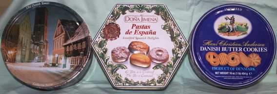 Latas Galletitas Antiguas Old Danish, Españolas $435 Las 3