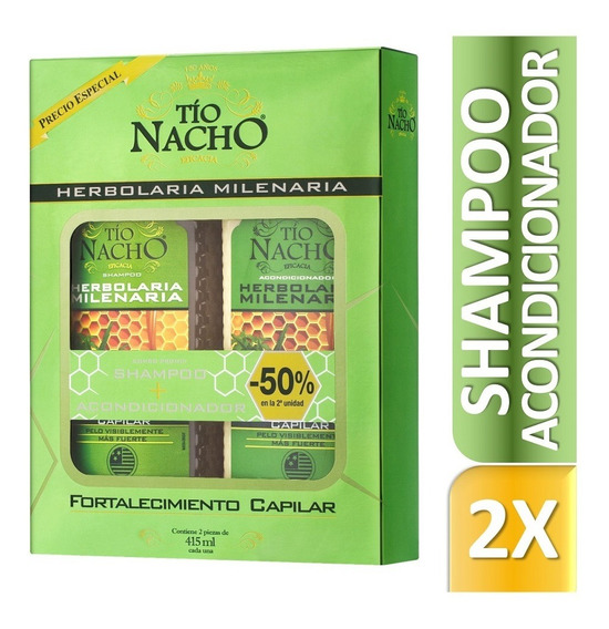 Tío Nacho Monoestuche Herbolaria Milenaria Sham + Aco X415ml