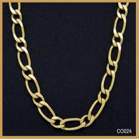 Corrente Ouro 18k Grumet 1 Por 1 Cod.co024 60cm