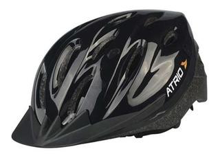 Capacete Bike Atrio Bi002 G 58-62 Preto Bicicleta Mtb Speed