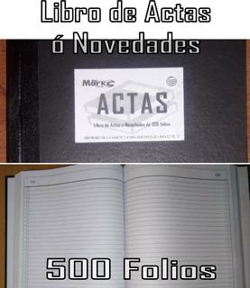 Libro De Actas De 500 Folios Calidad Premium Bond 20 Fabrica