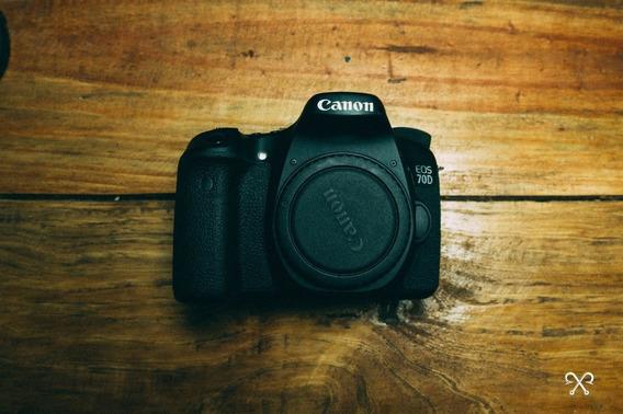 Câmera Canon 70d C/ Bateria Extra E Cartão