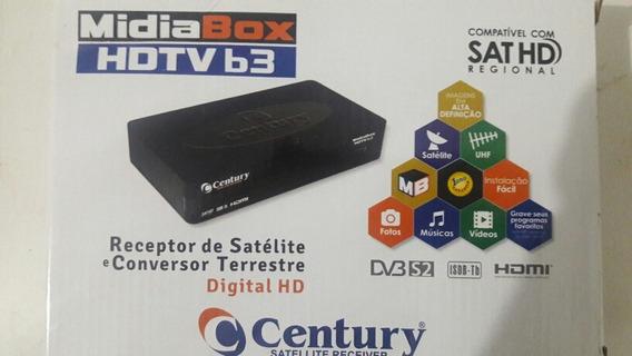 Midia Box Hdtv B3 Sat Hd Regional Com Globo Hd Century