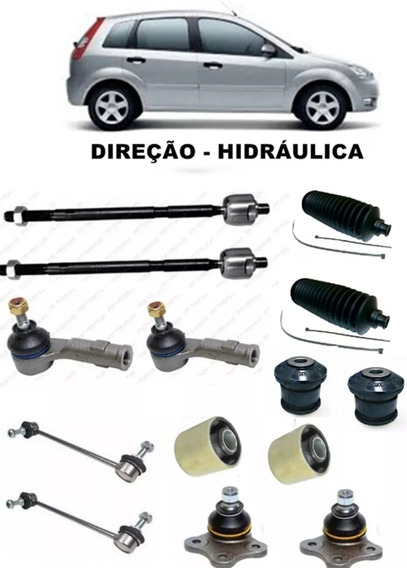 Braco Axial Terminal Direção Pivo Bieleta Bucha Fiesta 2003 A 2014 Direção - Hidráulica