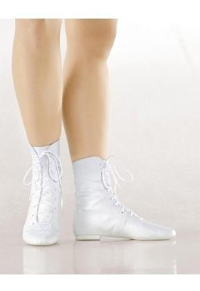 Bota Em Couro Jazz,dança,pilates, Academia (branco)(unissex)