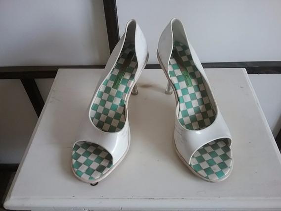 Zapatos Retro Taco Acrílico Transparente Estilo Marilyn
