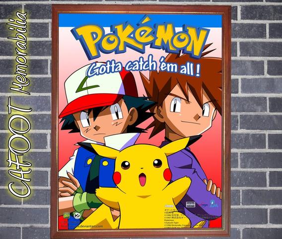 Pokemon - Poster Enmarcado - Ash Pikachu