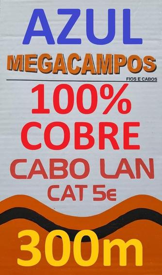 Cabo Rede Cat5e 100% Cobre Azul 300m Trançado Megacampos