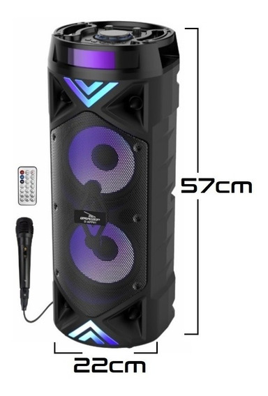 Caixa Som Bluetooth Amplificada Portátil Grande Potente 40w