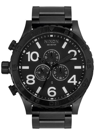Relógio Nixon 51 All Black A083 2790 Original Australiano
