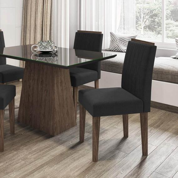 Conjunto Mesa Jasmin 4 Cadeiras New Ceval Hf