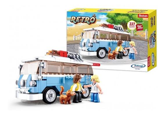 Blocos De Montar Retrô Minivan - 01321 Xalingo
