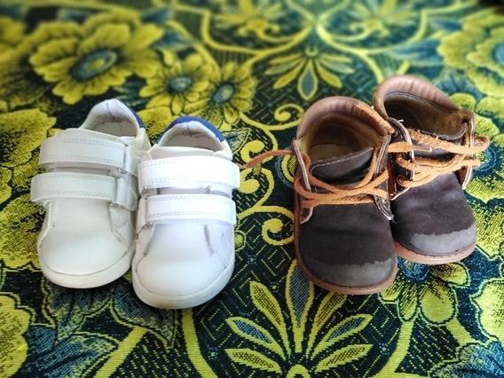 Tenis No 13 De Bebé Y Zapatos No 12