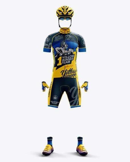 Kit Mockup Ciclista Yellow Images