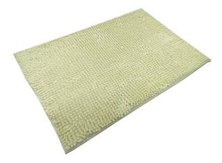 Felpudo De Baño Antideslizante Silk Amarillo 40 X 60 Cm