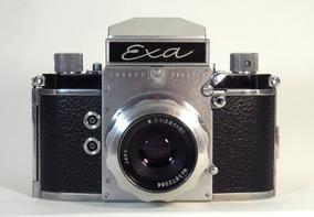 Câmera Exa + Lente Carl Zeiss Jena T 1:2.8 F= 50mm