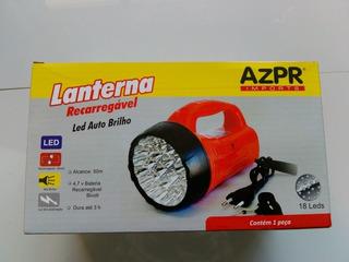 Lanterna Recarregável 18 Leds Azpr