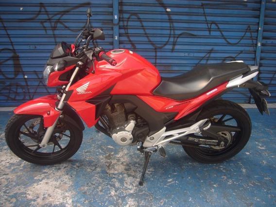 Honda Cb 250 Twister Vermelha Com Abs Troca Financia Cartao